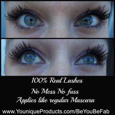 No extensions no fake lashes just 3D Fiber Lash Mascara!! Insane!!! www.YouniqueProducts.com/BeYouBeFab  $29 USD ~ $35 CAD ~$38 AUD  #Makeup #LongLashes #Falsies