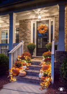 Fall Porch Decor: Statement-Making Front Steps   Kelley Nan