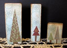 Christmas Tree Wood Blocks or make a stable to go behind small nativity sets- to help them stand out