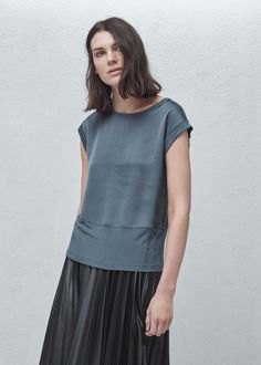 Contrasting t-shirt | MANGO