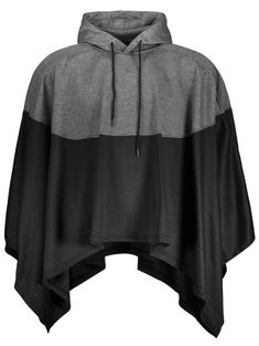 SHARE & Get it FREE | Mens Two Tone Cape Hoodie - Black And Grey LFor Fashion Lovers only:80,000+ Items • New Arrivals Daily Join Zaful: Get YOUR $50 NOW!
