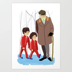 lets shag ass (wes anderson) Art Print by Lindsay Pak - $17.00