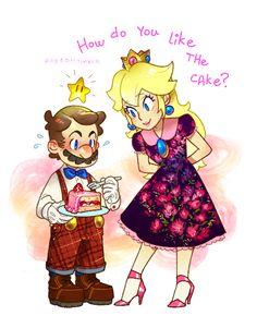 I mostly post fan art here / korean Super Mario Princess, Mario And Princess Peach, Nintendo Princess, Mario Fan Art, Mario Bros., Mario And Luigi, Video Games Funny, Funny Games, Super Smash Bros