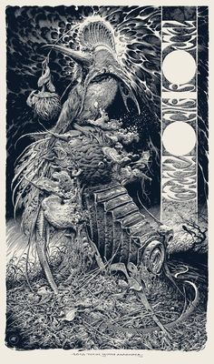 Neurosis / Converge Tour Poster by Aaron Horkey (Onsale Info) - OMG Posters! Art And Illustration, Illustrations Posters, Omg Posters, Arte Tribal, Trash Art, Poster Drawing, Amazing Drawings, Ink Pen Drawings, Ink Art