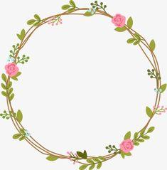 something to draw Flower Circle, Flower Frame, Crown Flower, Flower Png Images, Karten Diy, Wreath Drawing, Borders And Frames, Floral Border, Flower Backgrounds