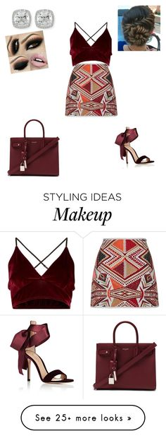 """""""Untitled #209"""" by tyrismith on Polyvore featuring Gianvito Rossi, Yves Saint Laurent and Frederic Sage"""