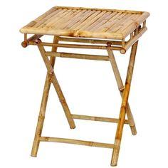 Handmade Bamboo Folding Short Table (Vietnam)