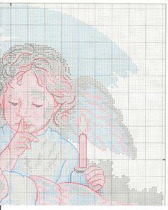 Schema punto croce Angelo Custode 1c