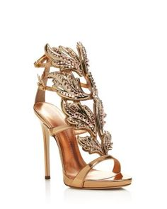 83090ea078bb9 GIUSEPPE ZANOTTI Coline Cruel Embellished Wing High Heel Sandals. # giuseppezanotti #shoes #sandals
