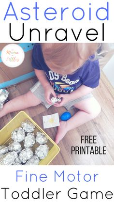 Toddlers and moms are sure to enjoy these easy to put together and hours of fun asteroid activities that will have tots gaining gross and fine motor skills.