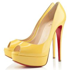 Perfect Christian Louboutin Lady 140mm Peep Toe Pumps Canari, Perfect You