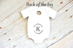 Baby MINI Onesie Tag ~ Thanks for honoring our Mommy-to-be and her little Sweet Pea ~ baby shower ~ hand sanitizer thank you ~ onesie gift tags ~ 10 tags