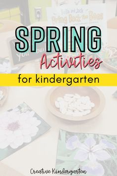 Find ideas and inspiration for your spring kindergarten centers and activities. Make your program planning easy to reinforce important skills and concepts. What Activities, Spring Activities, Hands On Activities, Kindergarten Centers, Kindergarten Classroom, Math Skills, Life Skills, Butterfly Life Cycle, Task Cards