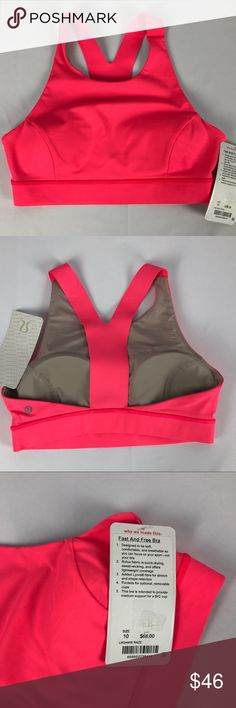 Lululemon Invigorate Bra Size 6 Lululemon Invigorate Bra Size 6 New with tag Color MDNI Medium support for B/C cup Pockets for optional, removable cups lululemon Other