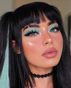 Glitter Makeup Looks, Cute Makeup Looks, Makeup Eye Looks, Creative Makeup Looks, Pretty Makeup, Pretty Halloween Makeup, Asian Makeup Looks, Party Makeup Looks, Summer Makeup Looks