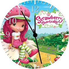 New Strawberry Shortcake Wall Clock 10' Will Be Nice Gift and Room Wall Decor W98 ** Click image to review more details. (This is an affiliate link and I receive a commission for the sales)