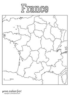 Map of france . Perfect for those overseas pages either as journaling or scrapbooking Download and print your page here!