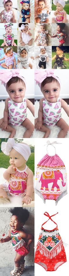 Baby Girls Clothing: Newborn Baby Boy Girl Floral Romper Bodysuit Jumpsuit Outfit Sunsuit Clothes Lot -> BUY IT NOW ONLY: $2.99 on eBay!