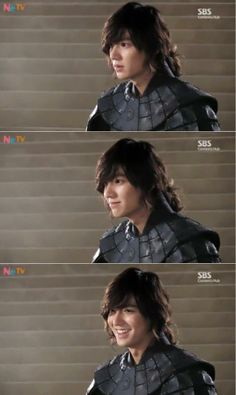 Lee Min Ho with different facial expressions.