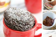 Ricetta+torta+in+tazza+alla+nutella,+due+minuti+ed+è+pronta