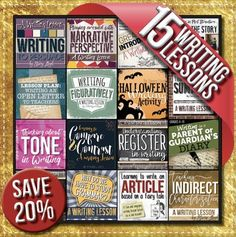 Teaching writing can be a challenge, but these fifteen complete no-prep lessons will help make writing engaging and fun, whilst also teaching rigorous skills and content. Plus, you will SAVE 20% when you buy this bundle!