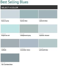 Best selling blues (Benjamin Moore)... Can I use them all?   I love blues