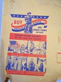 WWII homefront buy War Bonds RWB School Book Covers