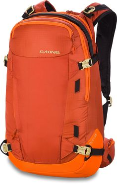 DAKINE Heli Pro II Pack - in Inferno, One Size. Volume: 1708 cu in. Waist Belt: yes. Hydration Compatible: yes. Reservoir Included: no. Best Hiking Backpacks, Day Backpacks, Camping And Hiking, Backpacking, Hiking Packs, Popular Backpacks, Kids Skis, Rucksack Backpack, North Face Backpack