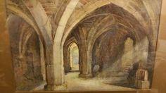 Een D Leggett - kerk kathedraal Cloisters 1922  Mooie en zeer goed geschilderde aquarel schilderij van een kerk of kathedraal kloosters met de lichtstralen schijnt door een van de Vensters.Ondertekend door de kunstenaar rechtsonder ik denk dat het is A D Leggett en gedateerd van 1922.Het schilderij is in zeer goede staat het frame heeft een aantal merken en chips zoals in foto's.Het zichtbaar schilderij meet 37 x 24 cmDe metingen met inbegrip van frame zijn 54 x 40 cm  EUR 1.00  Meer…