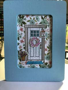 May 20: I didn't get much time in the craft room, but I painted a dollar frame from Michael's and used the At Home With You stamp set and dies from Stampin' Up.