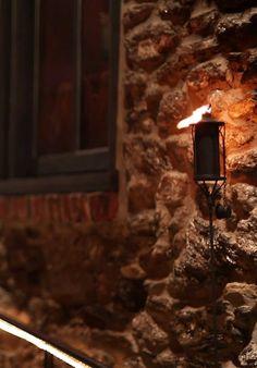 Tiki torch lantern in the night gif