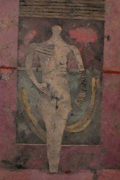 mujer en blanco, 1976. oleo sobre tela.  Tamayo | via Mexico Historic & Hip ~ Cityhaüs Design