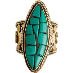 From St Xavier Ellie Ring ($45) ❤ liked on Polyvore featuring jewelry, rings, turquoise, mosaic jewelry, band jewelry, mosaic ring, oval cut ring and teal jewelry