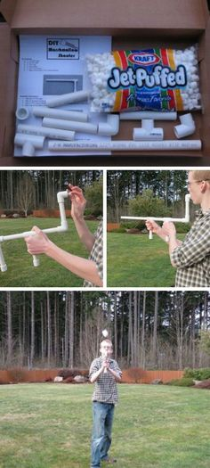 DIY Marshmallow Shooter | Click Pic for 18 DIY Christmas Gift Ideas for Kids | Handmade Christmas Gifts for Boys