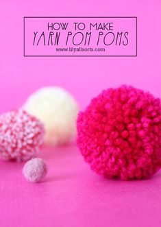 Image tutorial on how to make Yarn Pom Poms. Every crafter should know! Tutorial for Felted Pom Poms too.