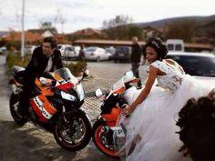 Sportbike wedding!