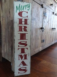 Items similar to Merry Christmas sign. Vertical Christmas sign/ hand painted Christmas sign/ Merry Christmas decor/ Front porch Christmas decor on Etsy Grinch Christmas Decorations, Christmas Wood Crafts, Merry Christmas Sign, Christmas Mantels, Christmas Mom, Primitive Christmas, Diy Christmas Gifts, Holiday Crafts, Christmas Ideas