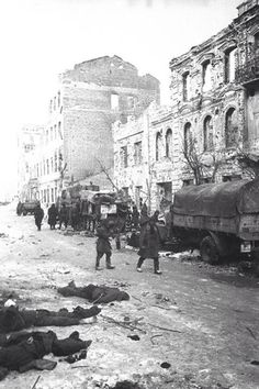 German KIA are everywhere in the streets of Stalingrad, when the battle was over, feb 3, 1943.