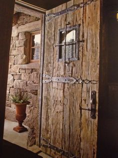 Doors - just heat-retaining, thieves-safe and functional home elements. But look here - the doors can also be truly fantastic works of art! Rustic Entry, Rustic Doors, Old Wood Doors, Wooden Doors, Slab Doors, Castle Doors, Wood Exterior Door, Cool Doors, Entrance Doors