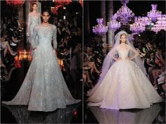 "More inspiration for the brides and the ""official"" one by Elie Saab"