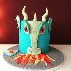 Fire Breathing Dragon's Head Cake