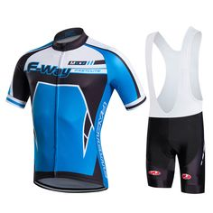 bec7edfff Fastcute 2017 cycling jersey men blue High quality summer short sleeves  Cycling sets Bike Shirt Cycling