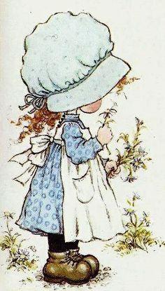 28 Ideas for basket illustration sarah kay Vintage Pictures, Cute Pictures, Sara Kay, Hobbies To Take Up, Hobby Horse, Holly Hobbie, Marianne Design, Beatrix Potter, Vintage Cards