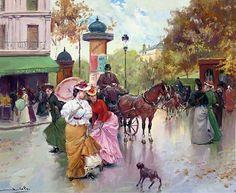 Juan Soler Spanish Impressionist New Realism painter Tutt'Art@ () Spanish Painters, Spanish Artists, Illustrations Vintage, His Travel, People Art, France, Optical Illusions, Impressionist, Surrealism