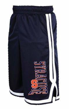 NCAA Syracuse Orange Long Mesh Pocket Short, Navy/White, X-Large Russell Athletic. $25.66