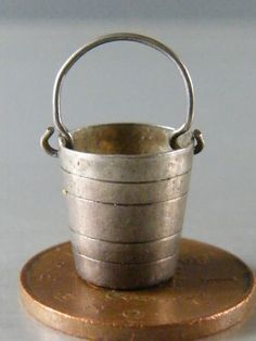 Vintage Sterling Silver Charm Bucket Moves | eBay