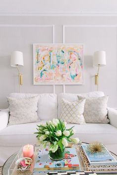 Thousands of curated home design inspiration images by interior design professionals, architects and decorators. Inspiration for every room in the home! My Living Room, Home And Living, Living Room Decor, Living Spaces, Small Living, Modern Living, Pastel Living Room, Sconces Living Room, Bedroom Decor
