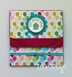 Birthday Basics Gift Card Holder by The Speckled Sparrow