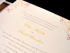 Fresh Floral Custom Color Wedding Invitation Set