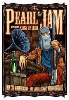 Pearl Jam Australia Melbourne Concert Poster by Ken Taylor